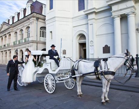 na poroko s poročno kočijo