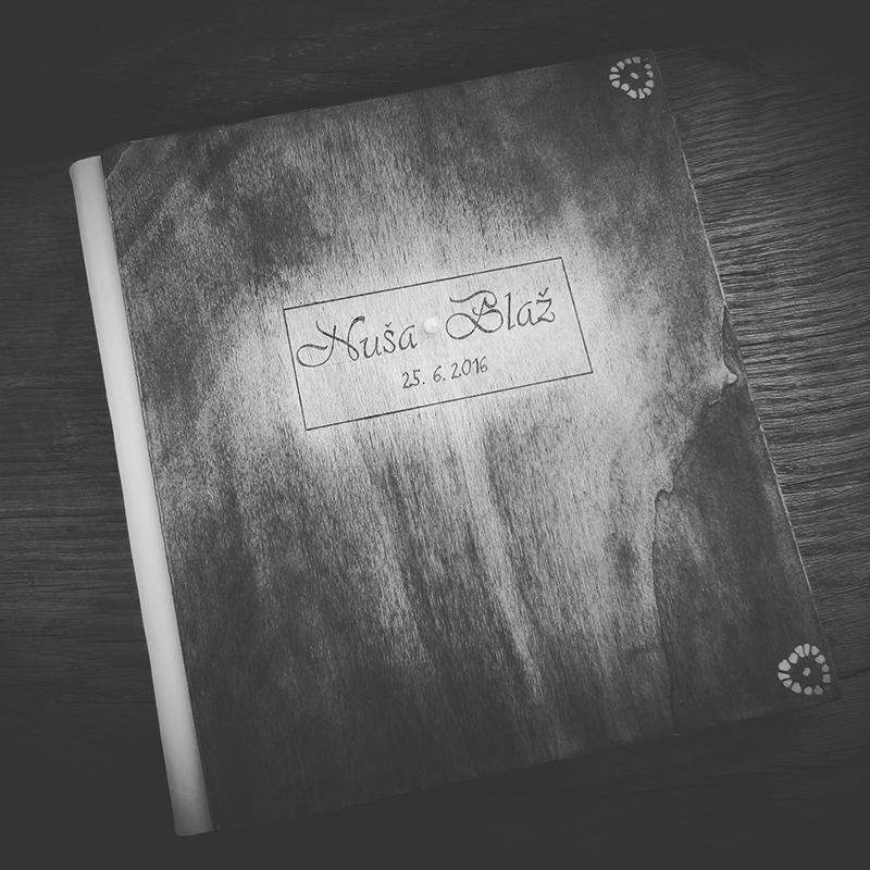 leseni poročni album
