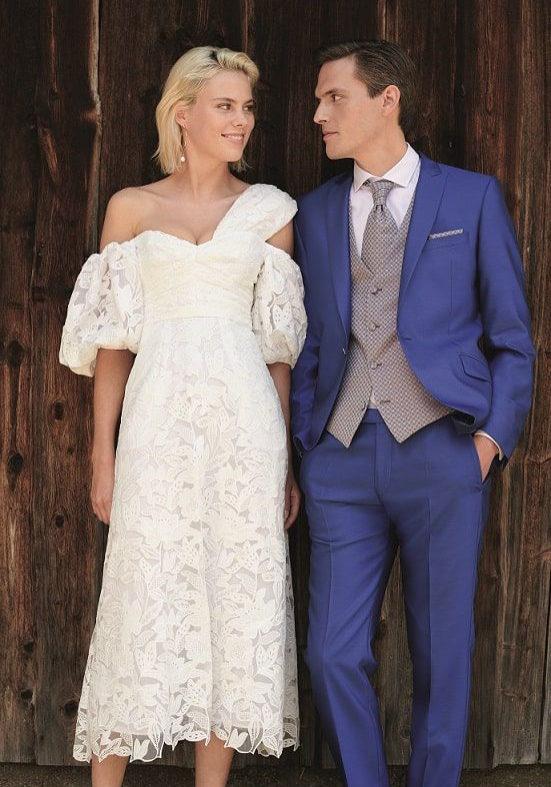 moška obleka za poroko